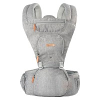 Canguru Hipseat Cinza com assento - Fisher Price
